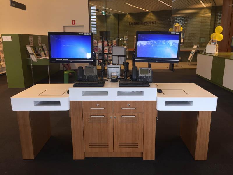 commercial library desk returns