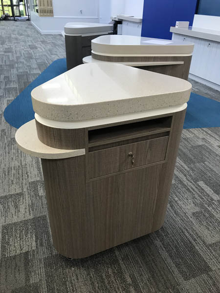 commercial library desk