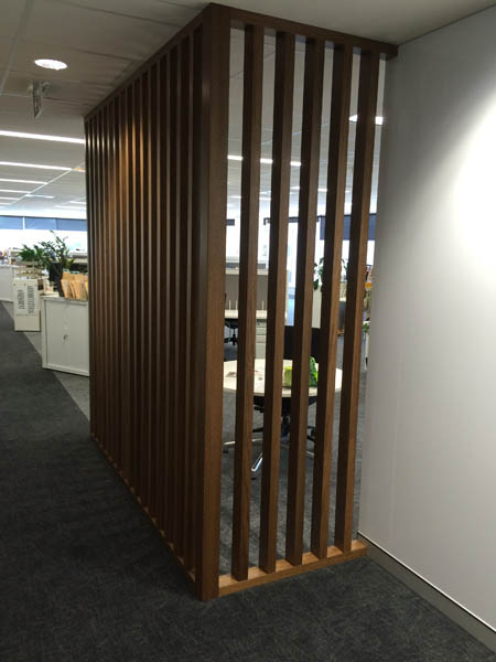 Commercial Office Fit outs feature wall