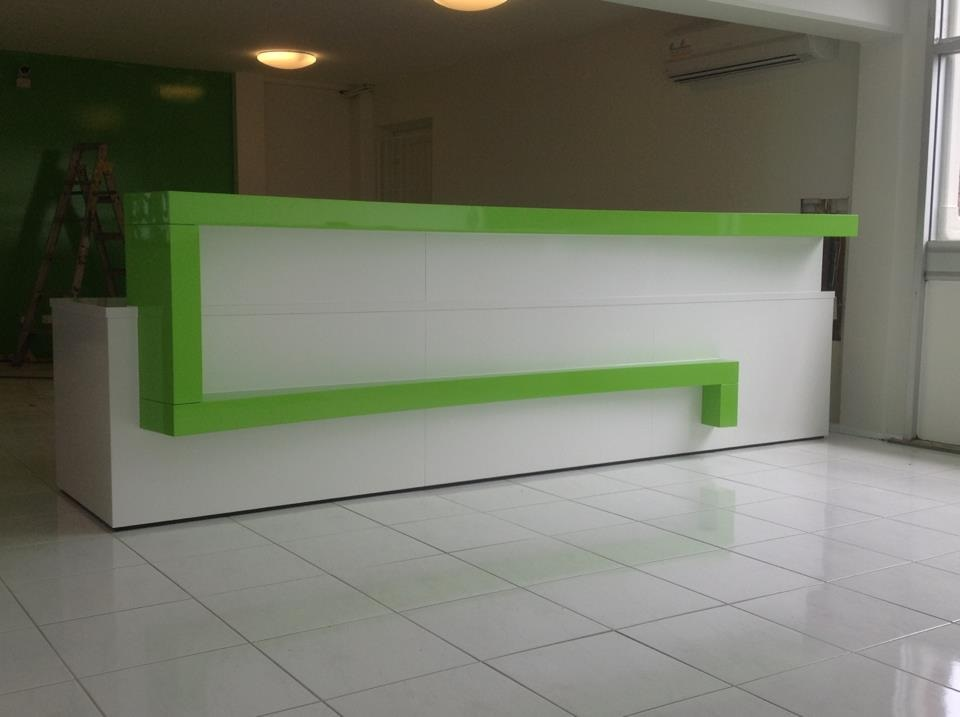 Commercial Office reception counter Green