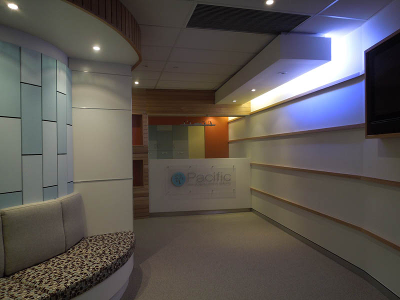 Commercial Office reception Dentist fitout Robina