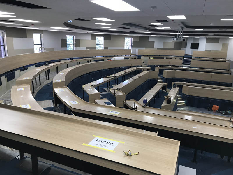 commercial tiered learning benches