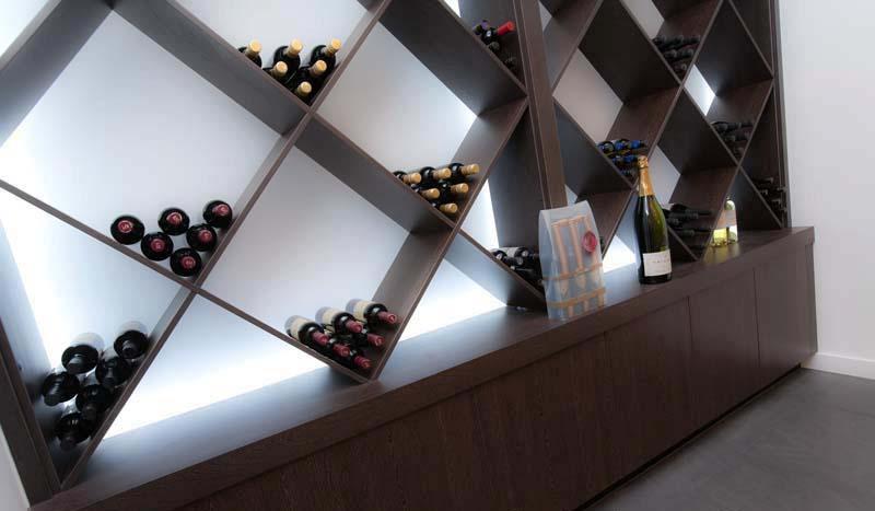 modern winerack